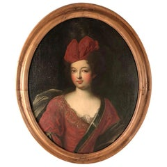 Late 17th Century Oil Portrait of a Lady