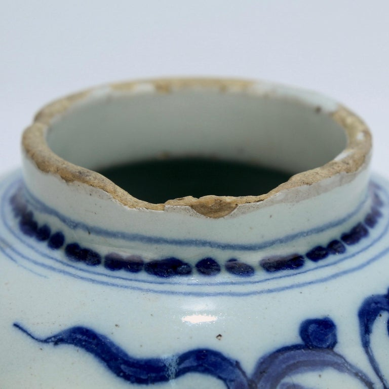 Late 17th-Early 18th Century Dutch Delft Vase or Jar Marked for Gerrit Kam For Sale 6