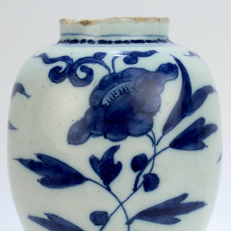 Late 17th-Early 18th Century Dutch Delft Vase or Jar Marked for Gerrit Kam For Sale 7