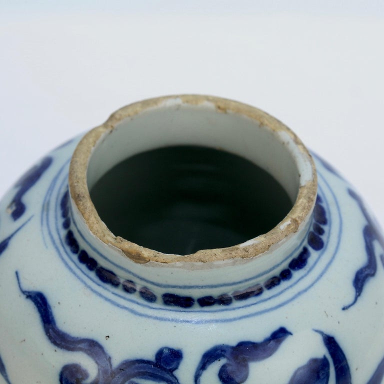 Late 17th-Early 18th Century Dutch Delft Vase or Jar Marked for Gerrit Kam For Sale 5