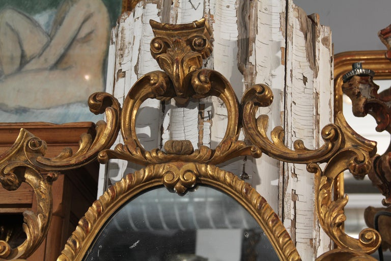 Late 18th Century Ornate Carved Wood and Gilt Mirror For Sale 2