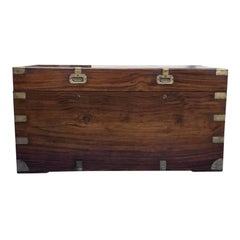 Late 1800s 19th Century Camphor Wood Trunk, Stamped 'Cheong Hop'