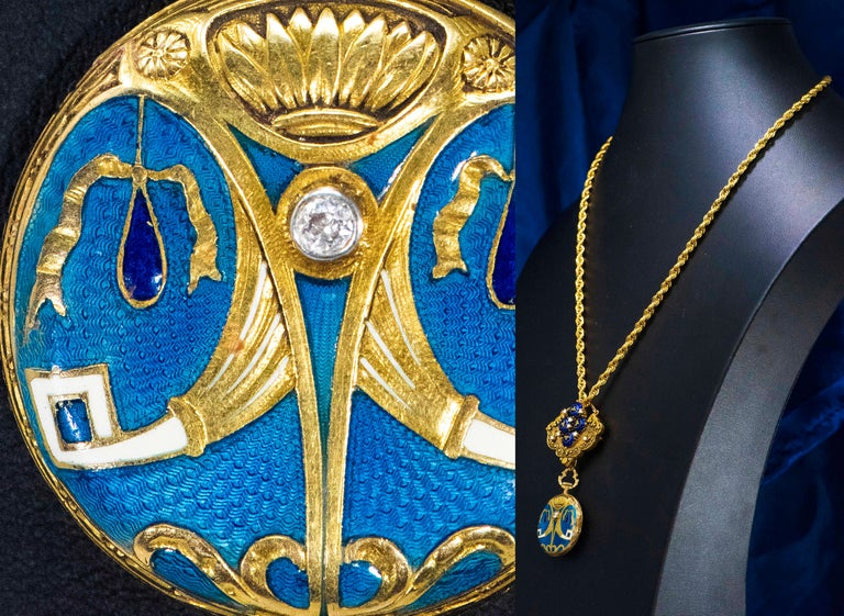 Dimensions: The total drop when worn as a pendant on a chain is 71mm in length from the top of pin to the bottom of watch   The Measurements of the Blue Beaded Enamel Bee Motif & Pearl Set Lapel  Pin alone which is detachable is  31mm length x 35mm