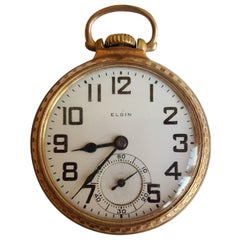 1924 Elgin Pocketwatch, Working, 21 Jewel, BW Raymond, Gold Filled