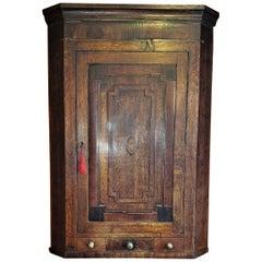 Late 18C English Regency Corner Wall Cabinet