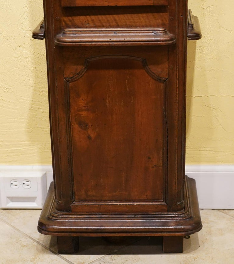 Bronze Late 18h Century French Provincial Walnut and Marquetry Tall Case Clock