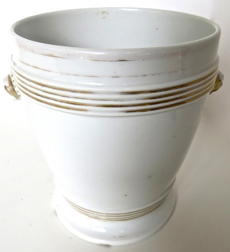 Glazed Late 18th Century English Faience Planter For Sale