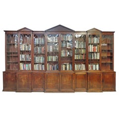 Late 18th C English Mahogany and Pine Secondary Breakfront