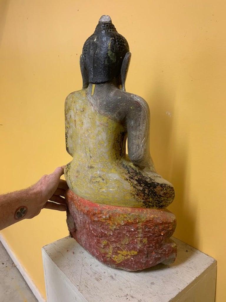 Late 18th Century Stone Shan State, Burmese, Myanmar Buddha For Sale 2