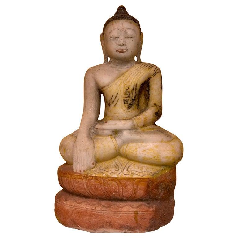 Late 18th Century Stone Shan State, Burmese, Myanmar Buddha For Sale