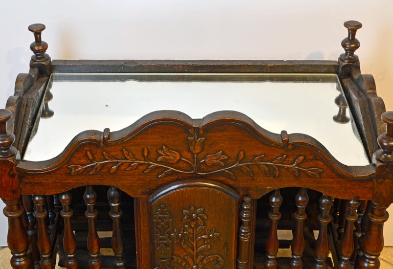Late 18th Century French Provincial Carved and Turned Walnut Panetiere For Sale 9
