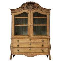 Late 18th Century Louis XVI Display Cabinet in Bleached Oak