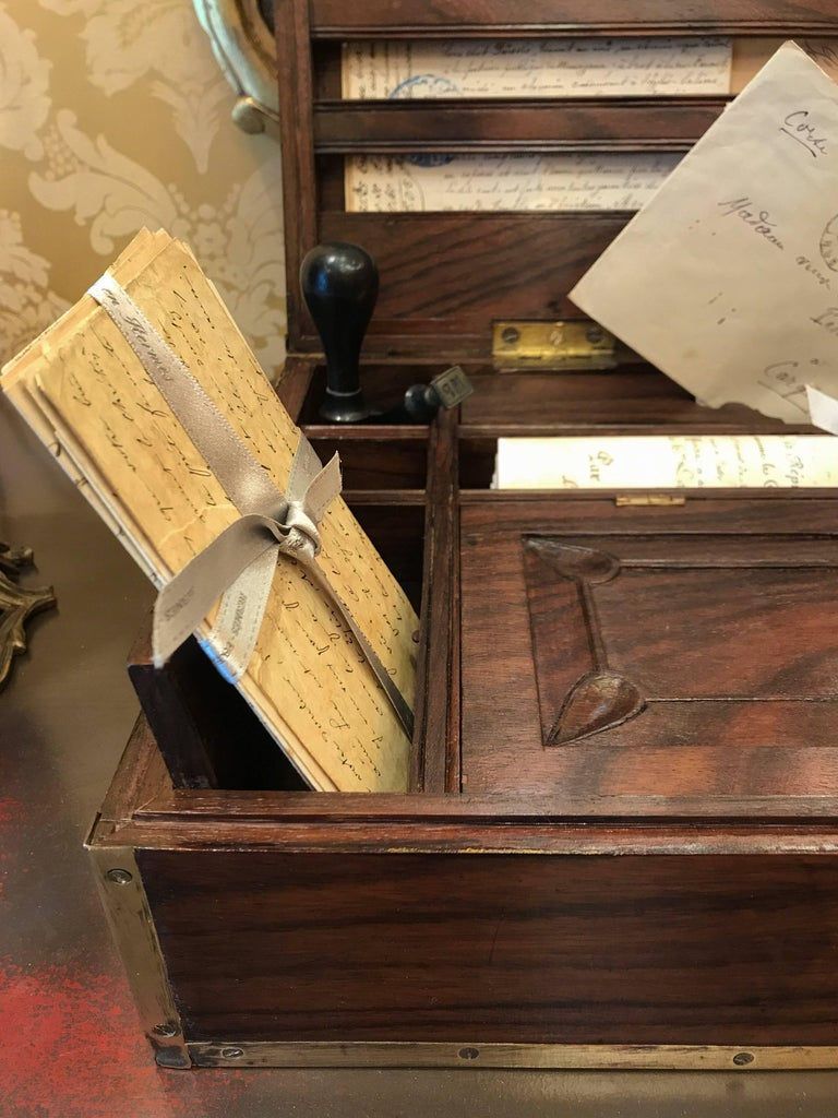 Late 18th Century Amarante Officer's Letter Box, circa 1780 For Sale 5