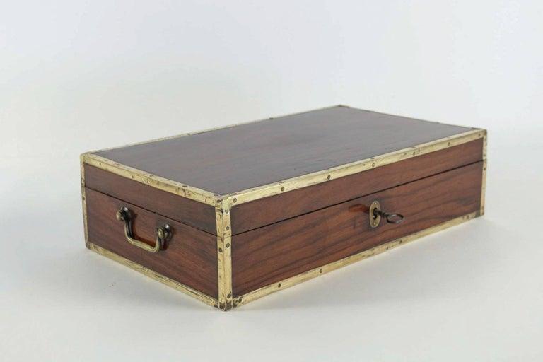 European Late 18th Century Amarante Officer's Letter Box, circa 1780 For Sale