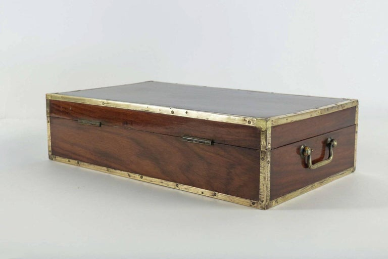 Late 18th Century Amarante Officer's Letter Box, circa 1780 In Good Condition For Sale In Saint Ouen, FR