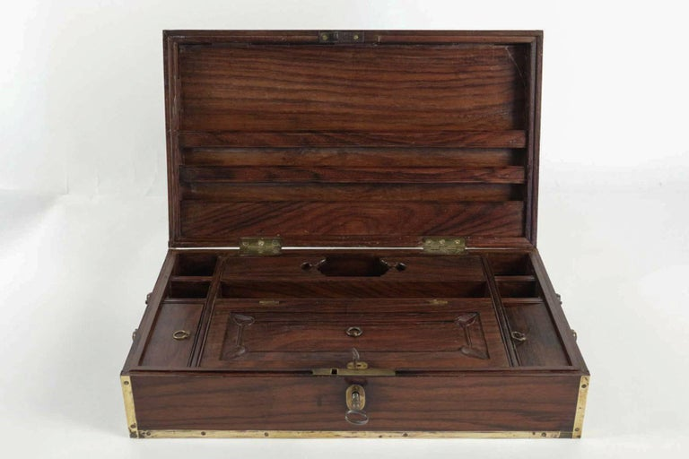 Kingwood Late 18th Century Amarante Officer's Letter Box, circa 1780 For Sale