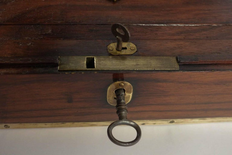 Late 18th Century Amarante Officer's Letter Box, circa 1780 For Sale 2
