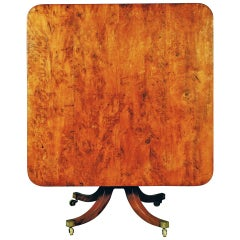 Late 18th Century Antique George III Yew-Wood Breakfast Table