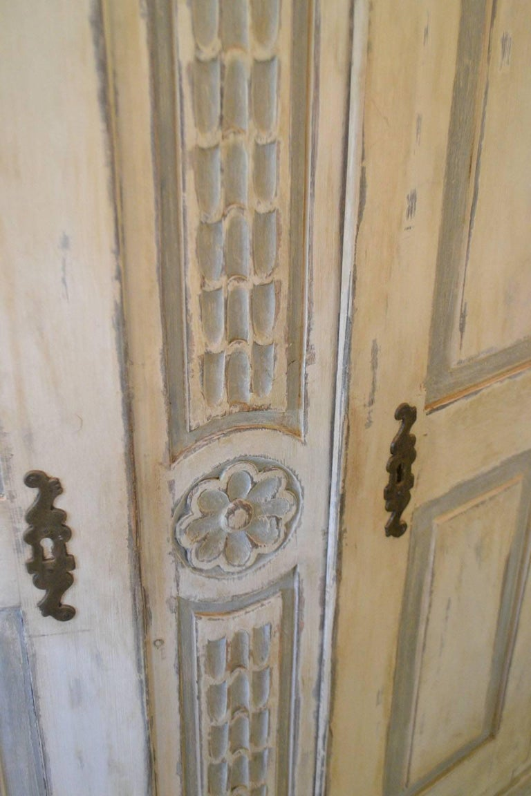 French Late 18th Century Armoire in Painted Wood For Sale