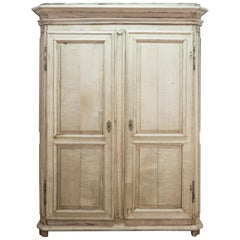 Late 18th Century Bleached Oak Storage Cabinet