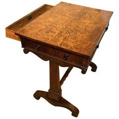 Late 18th Century Burr Elm Side Table, circa 1790