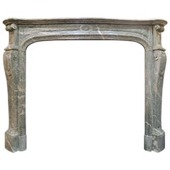 Late 18th Century Campana Marble French Fireplace Mantel