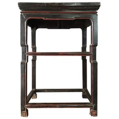 Late 18th Century Chinese  Export  Side Table in Black and Red