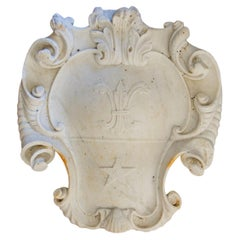 Late 18th Century Continental Carved Marble Cartouche