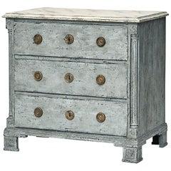 Late 18th Century Danish Louis XVI Painted Dresser / Chest of Drawers