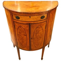 Late 18th Century Demilune Satinwood Commode, circa 1780