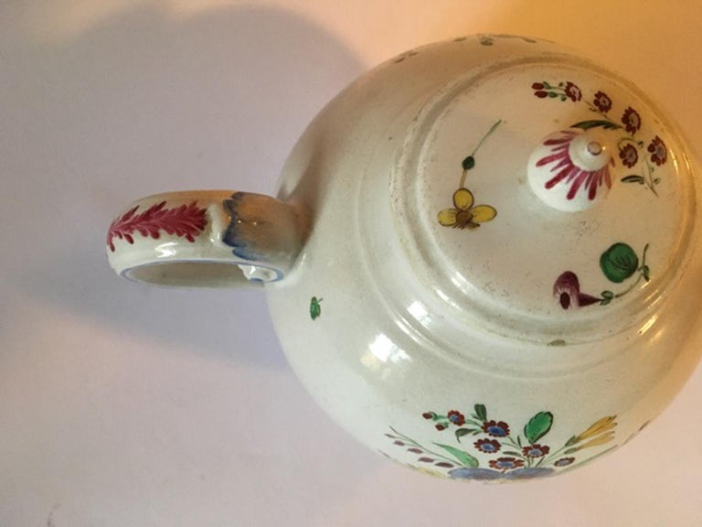 Late 18th Century Doccia Richard Ginori Porcelain Tea Pot with Floral Drawings For Sale 14