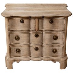 Late 18th Century Dutch Oak Four-Drawer Undulating Front Commode