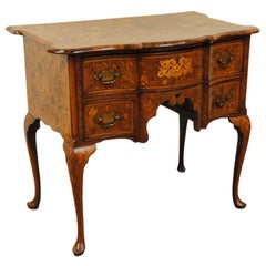 Late 18th Century Dutch Walnut Marquetry Lowboy