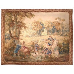 Late 18th Century Early 19th Century Belgium Hunt Scene Brussels Tapestry