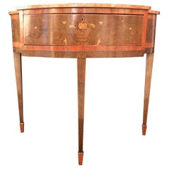 Late 18th Century Edwards & Roberts Tulipwood Ornate Floral Design Side Table