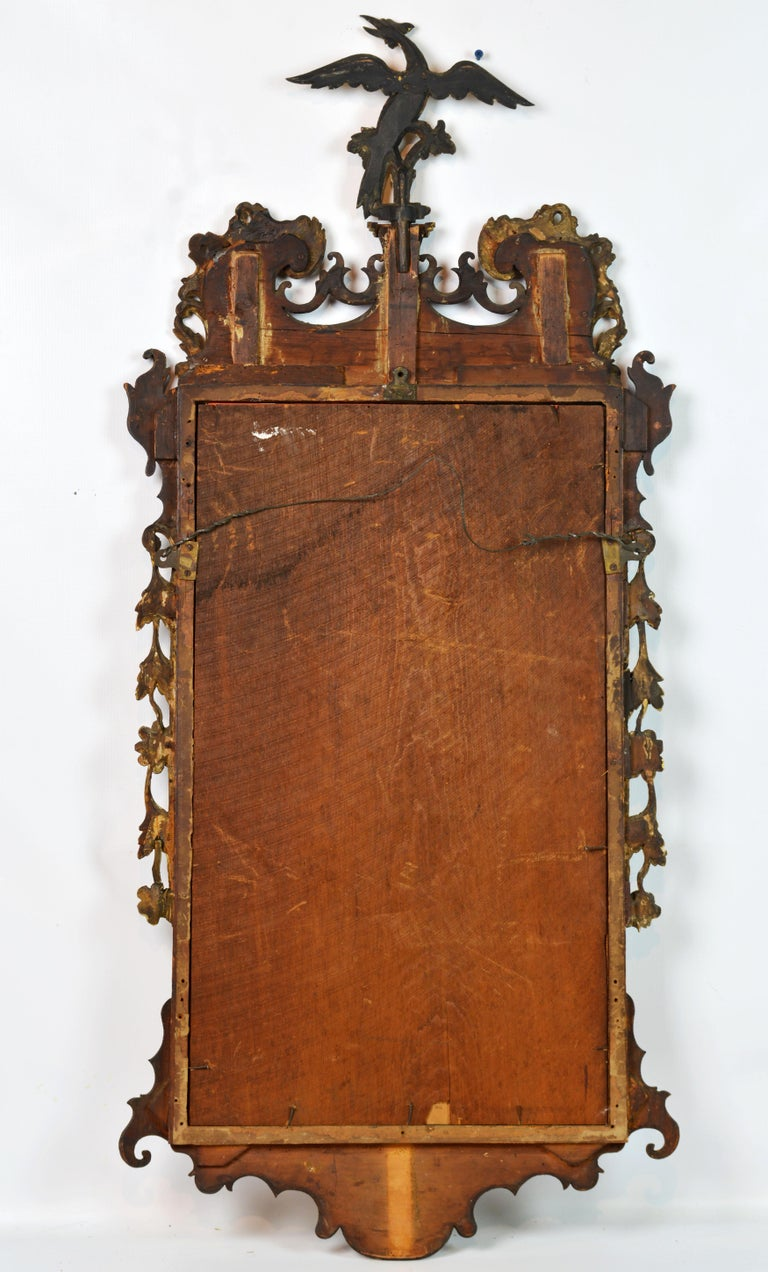 Late 18th Century English Chippendale Carved Mahogany and Parcel Gilt Mirror For Sale 7