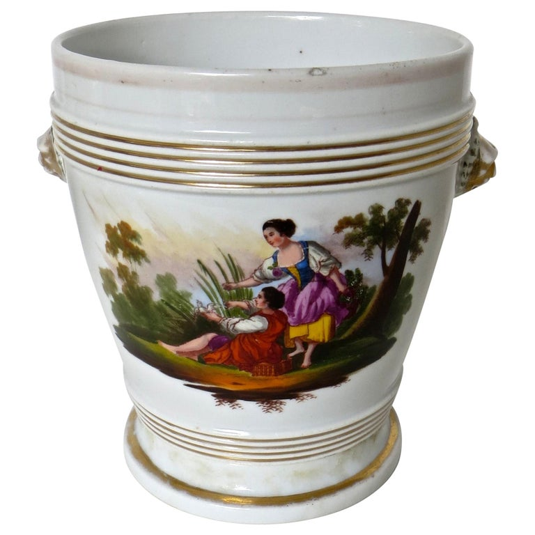 Late 18th Century English Faience Planter For Sale