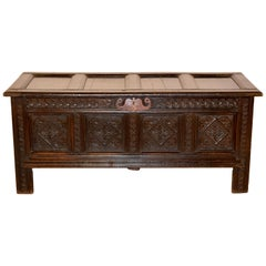 Late 18th Century English Oak Blanket Chest