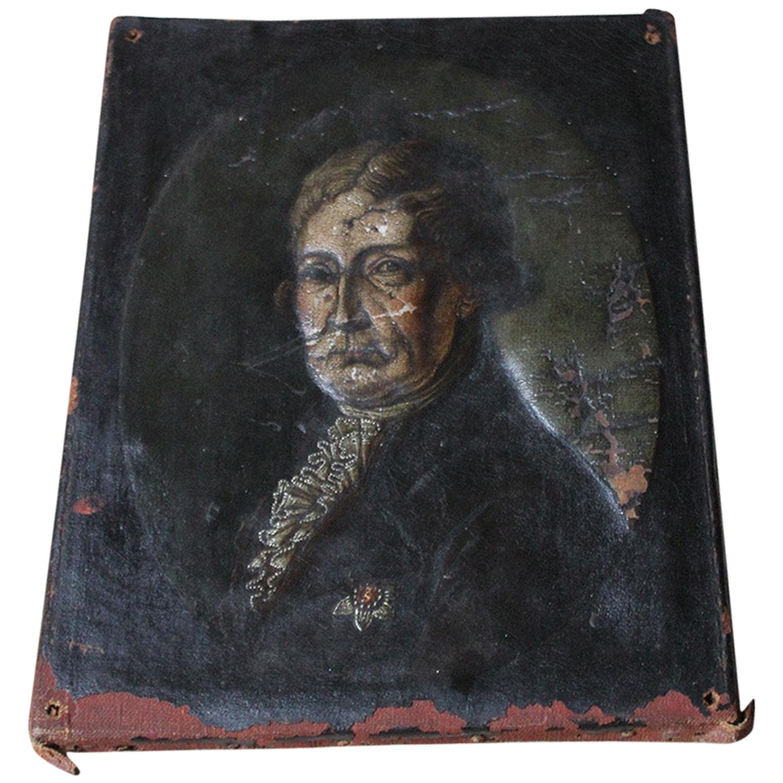 Late 18th Century English School Oil on Canvas of a Gentleman, circa 1780