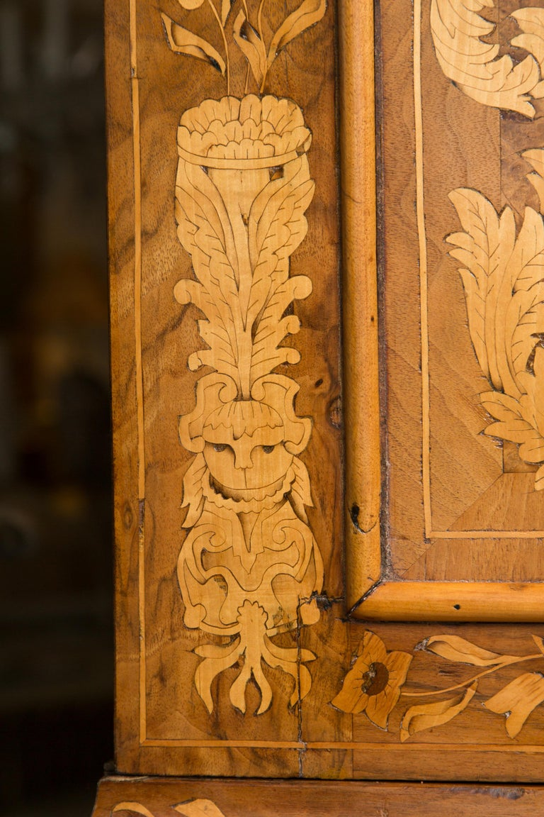 Late 18th Century English Walnut Marquetry Cabinet For Sale 11