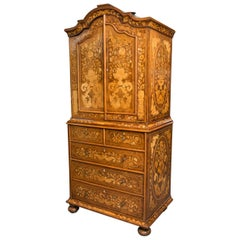 Late 18th Century English Walnut Marquetry Cabinet