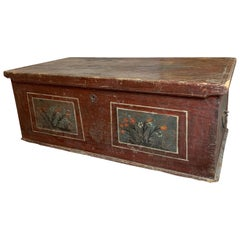 Late 18th Century European Hand Painted Marriage Trunk