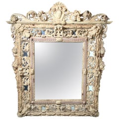 Late 18th Century Exceptionally Hand Carved Wooden Venetian Mirror