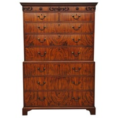 Late 18th Century Flame Mahogany Chest on Chest
