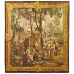 Late 18th Century Flemish Rustic Tapestry