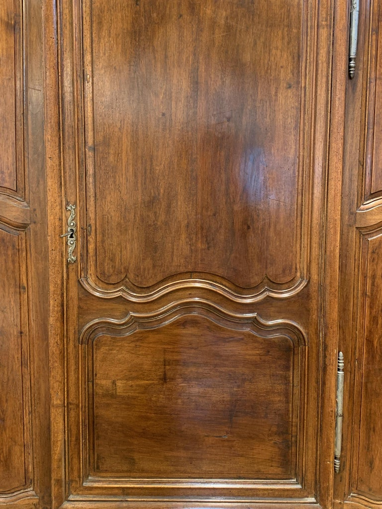 Hand-Carved Late 18th Century French Armoire For Sale