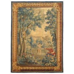 Late 18th Century French Aubusson Rustic Tapestry