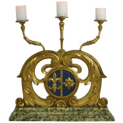 Late 18th Century French Carved Giltwood Baroque Candleholder