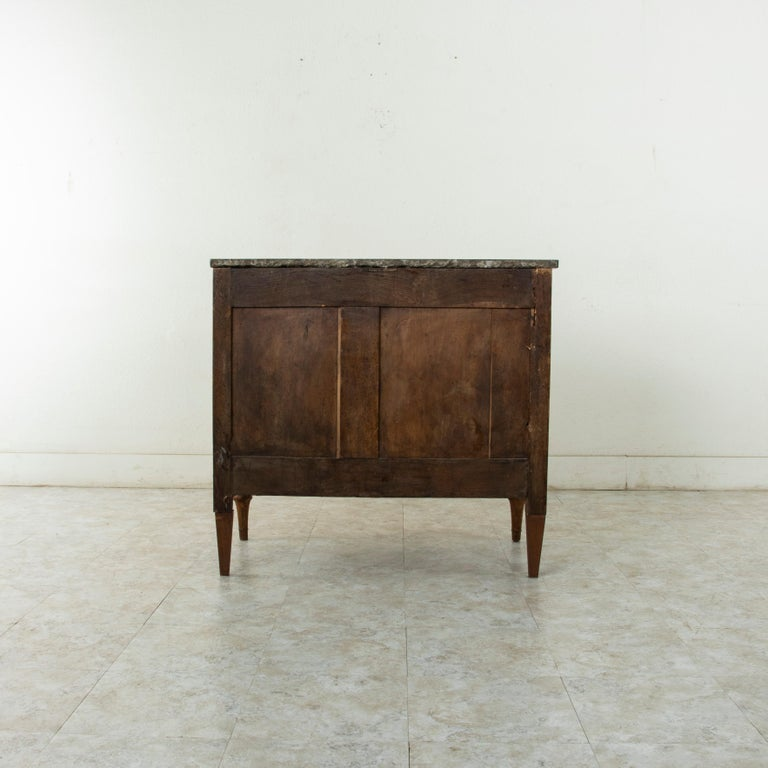 Late 18th Century French Louis XVI Period Walnut Commode or Chest with Marble For Sale 1