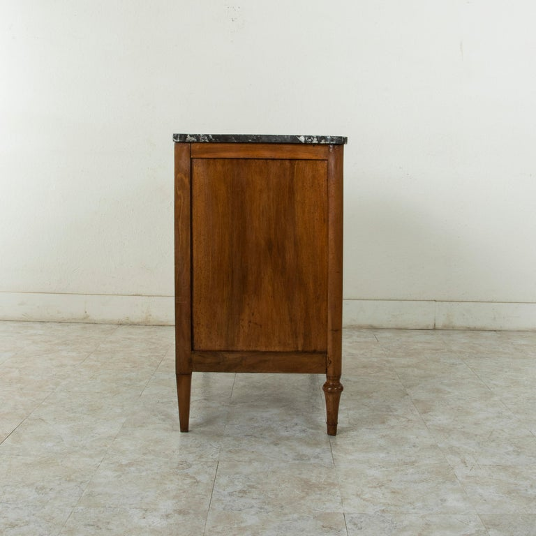 Late 18th Century French Louis XVI Period Walnut Commode or Chest with Marble For Sale 2